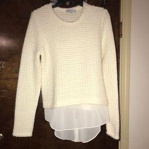 Anthropologie Matison stone wool sweater medium